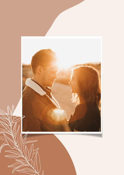 Trendy abstracte felicitatiekaart huwelijk congrats en takje 2