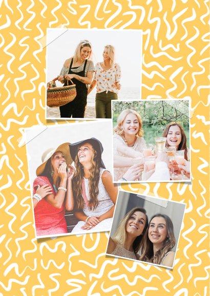 Trendy Glückwunschkarte gelb mit Foto 2