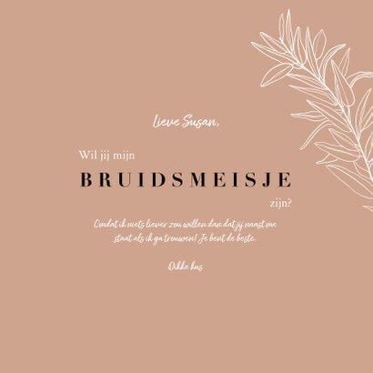 Trendy 'Ik wil je wat vragen' bruidsmeisje botanisch aarde 3
