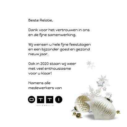 Trendy kerstkaart houtprint wit 2020 3