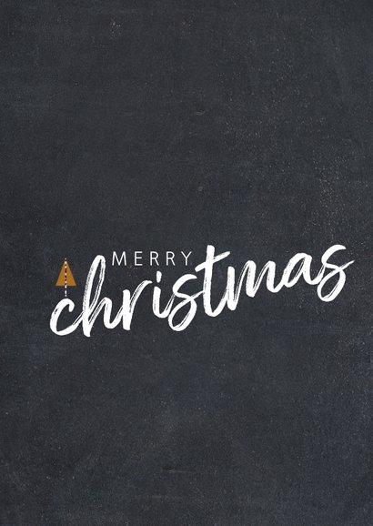 Trendy kerstkaart met foto en merry christmas 2