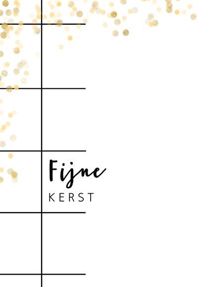 Trendy kerstkaart met foto, grid en goud 2