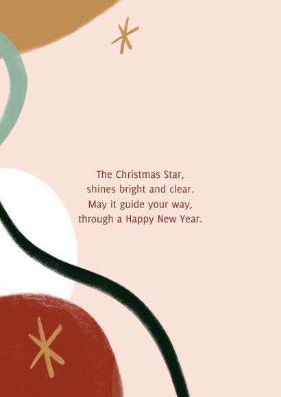 Trendy kerstkaart met merry christmas en sterren illustratie 2