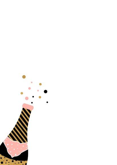 Trendy nieuwjaarskaart met champagne 2
