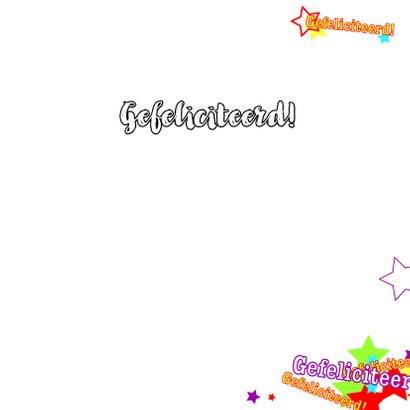 Trendy verjaardagskaart 4knt 3