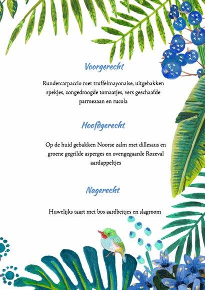 Tropical Menukaart Bladeren 3