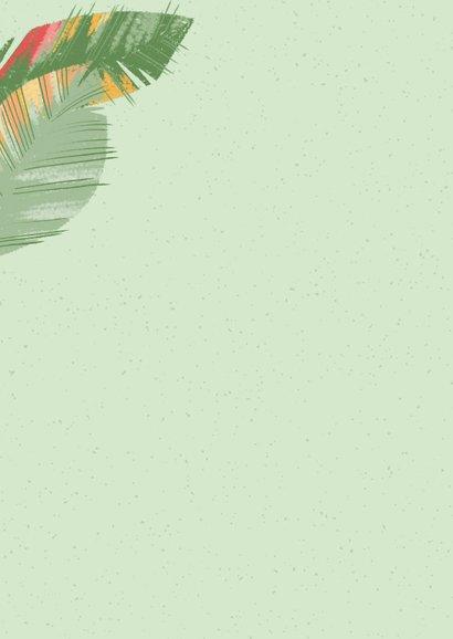 Tropische Blätter Dankeskarte Rückseite