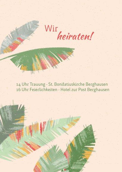 Tropische Blätter Hochzeitseinladung - We Say Yes 2