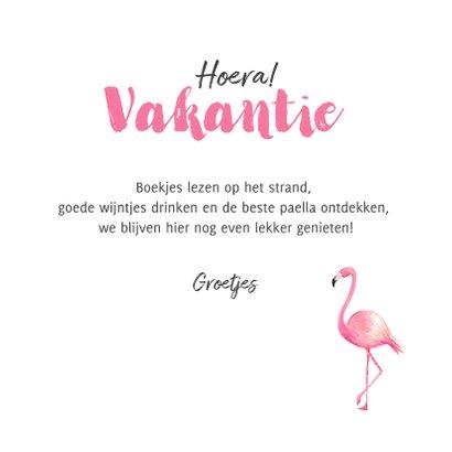 Tropische vakantiekaart met eigen foto flamingo 3