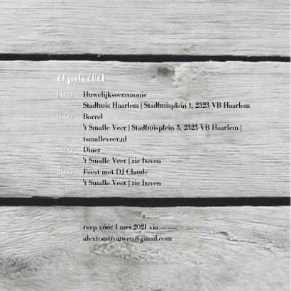 Trouwen krijt hart hout print 2
