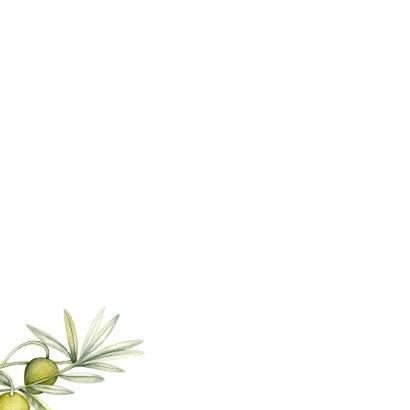 Trouwen olijftak aquarel Achterkant
