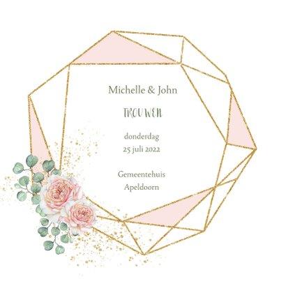 Trouwen rozen geometrisch 2