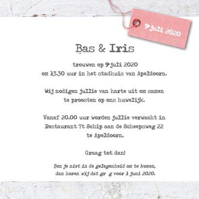 Trouwkaart Bas en Iris 3