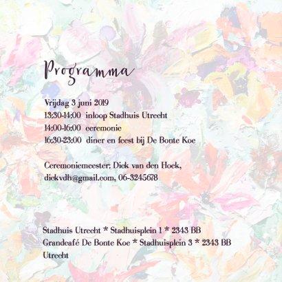 Trouwkaart bloemenpracht - IF vk 2