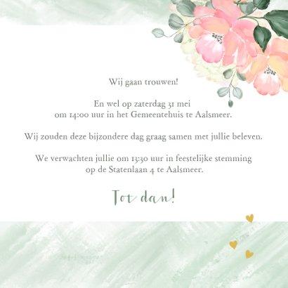 Trouwkaart boeket rozen 3