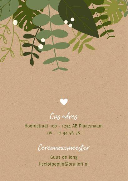 Trouwkaart - Botanisch op kraft 2