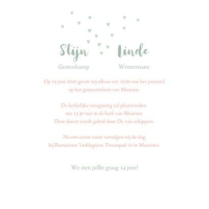 Trouwkaart bruidspaar waterverf  3