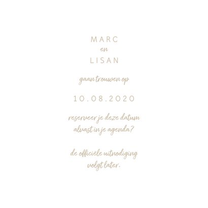 Trouwkaart fotocollage 'Wij gaan trouwen' 3