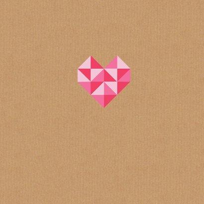 Trouwkaart geometrisch hart 3