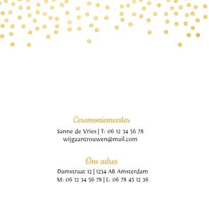 Trouwkaart goud met hartje 2