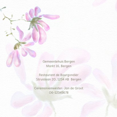 Trouwkaart magnolia 2