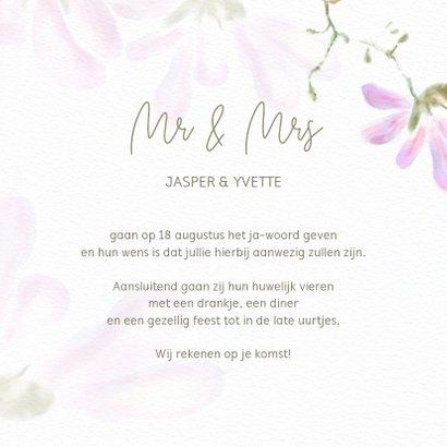 Trouwkaart magnolia 3