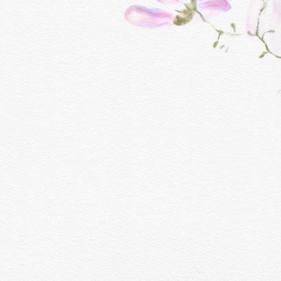 Trouwkaart magnolia Achterkant
