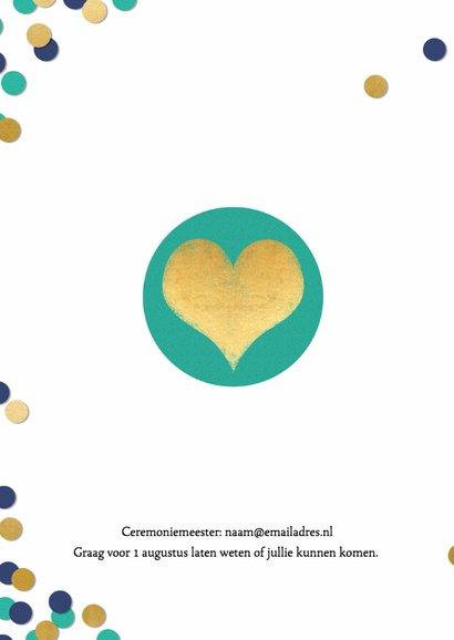 Trouwkaart met confetti - BK 2