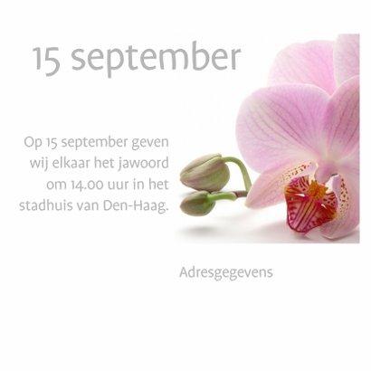 Trouwkaart met orchidee 3