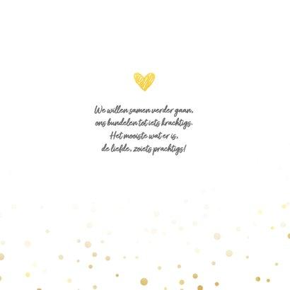 Trouwkaart mr&mrs met foto goud 2