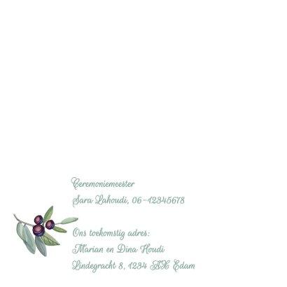 Trouwkaart olijftakken av 2