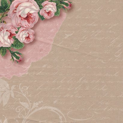 Trouwkaart rozen kraftlook foto 2
