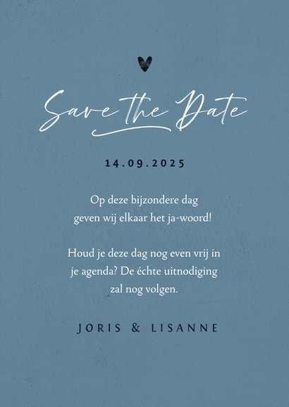 Trouwkaart save the date  3