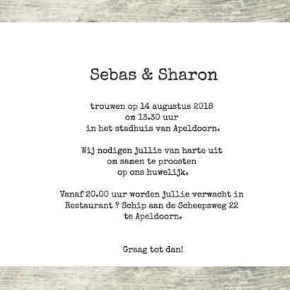 Trouwkaart Sebas en Sharon 3