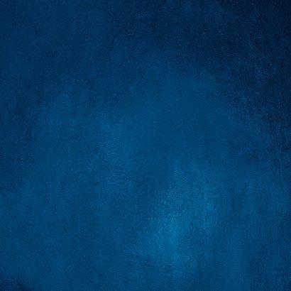 Trouwkaart stijlvol getuige goud blauw spetters Achterkant