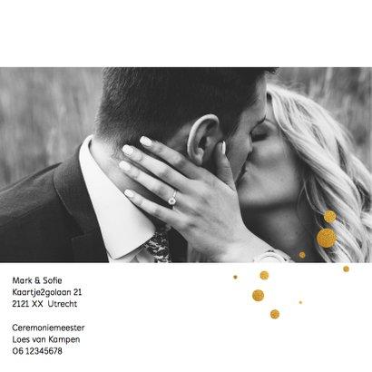 Trouwkaart trouwen stijlvol goudlook 2