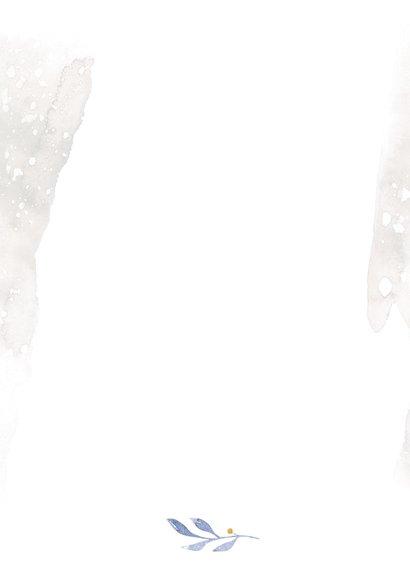 Trouwkaart uilenechtpaar met hart Achterkant