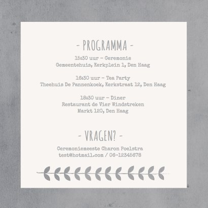 Trouwkaart Uitnodiging Koren gr 2