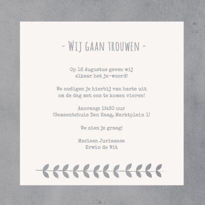 Trouwkaart Uitnodiging Koren gr 3