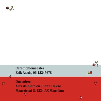 Trouwkaart Vespa rood - AV 2