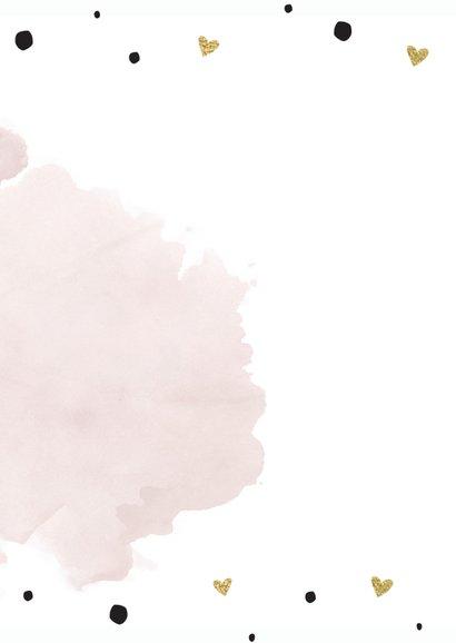 Trouwmenu aquarel roze goudfolie 2
