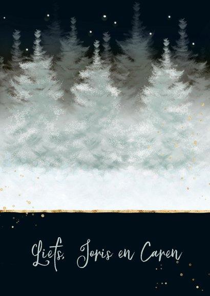 Twee hertjes in besneeuwd landschap 3