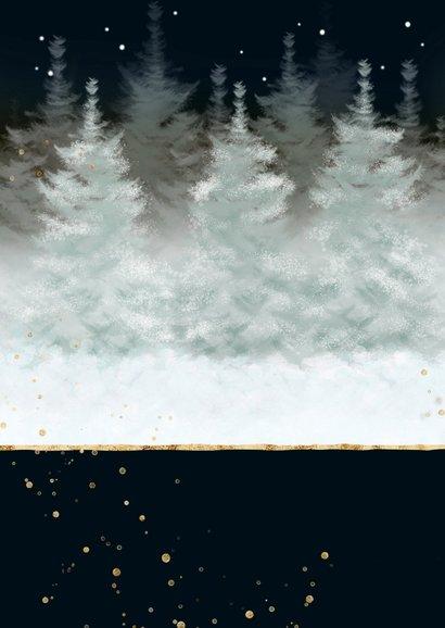 Twee hertjes in besneeuwd landschap Achterkant