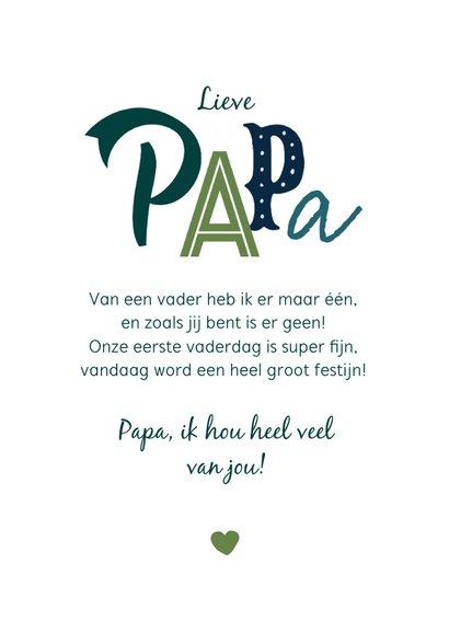 Typografische fotokaart vaderdag voor de liefste papa 3