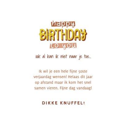 Typografische hippe verjaardagskaart happy birthday to you 3