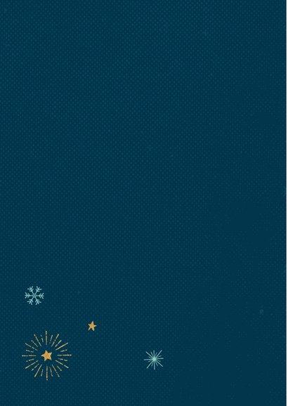 Typografische kerstkaart met sneeuwvlokken 2