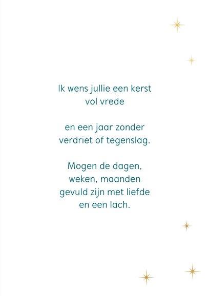 Typografische kerstkaart met sterren 3