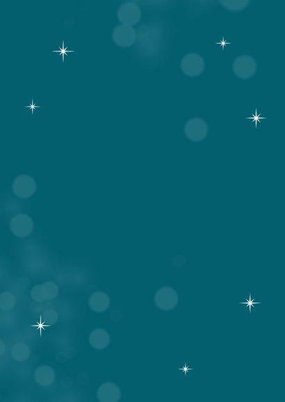 Typografische kerstkaart met sterren Achterkant
