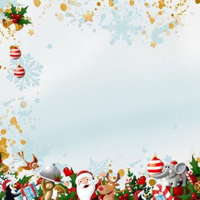 Uitbundige kerstkrans met 2021 in de sneeuw 2