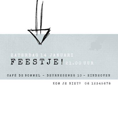 Uitnodiging 16, modern en eenvoudig met stoere typografie 3